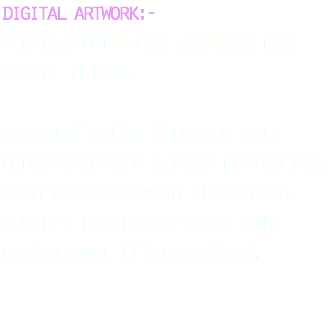 digital artwork:- generated digital artwork for social media. serenity sound healing/dragon isle drums required a logo design for each division and subsequent facebook events and promotional flyer artwork.